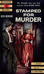 Stamped for Murder (McClaverty) Tags: mystery illustration paperback crime murder pulp detective suspense benbenson alrossi