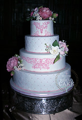 Casa Loma wedding cake for Sofia and Mohammad (House of the Rising Cake (still Surly)) Tags: pink wedding white rose lemon chocolate peony gardenia casaloma sugarpeony houseoftherisingcake