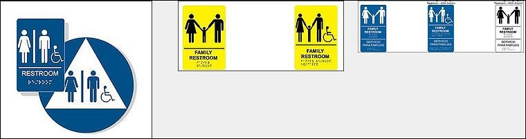 ADA Family Restroom Signs