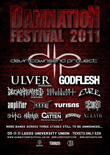 damnation festival gig listings