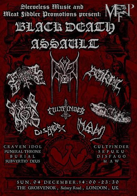 Black Death Assault gig listings