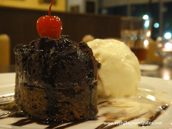 Ice Cream and Warm Chocolate Cake