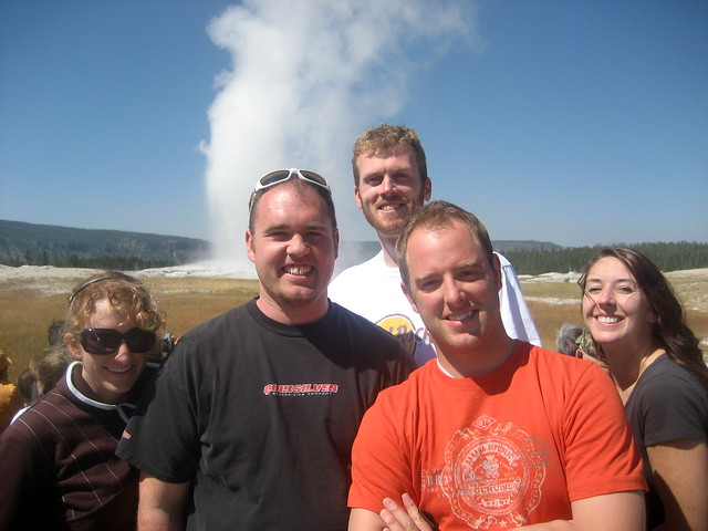 Group shot at Old Faithful