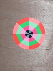 Acrylic on ply (Carl Cashman) Tags: geometric neon geometry uv violet carl ultra cashman
