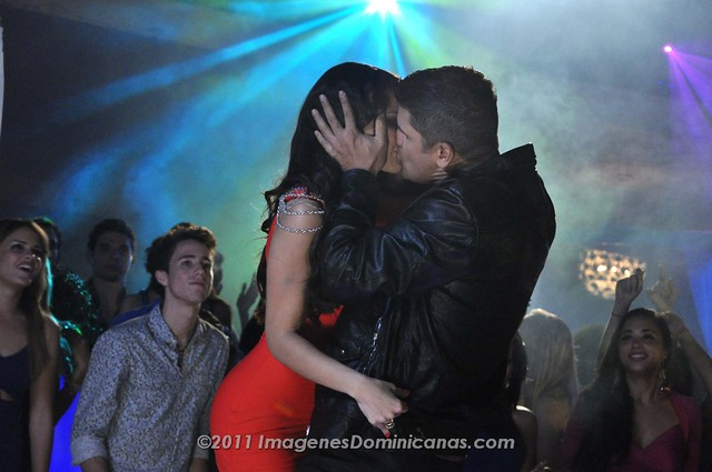 Jenny Blanco con Eddy Herrera