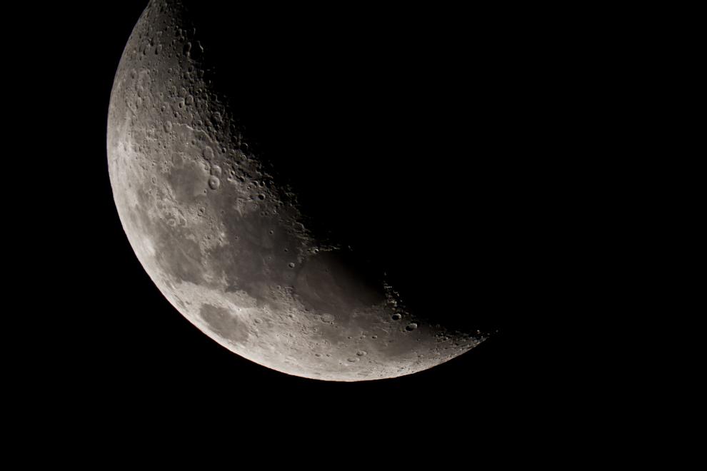 La majestuosa luna pudo ser capturada desde un telescopio Celestron con un lente equivalente a 2800mm. (Tetsu Espósito)