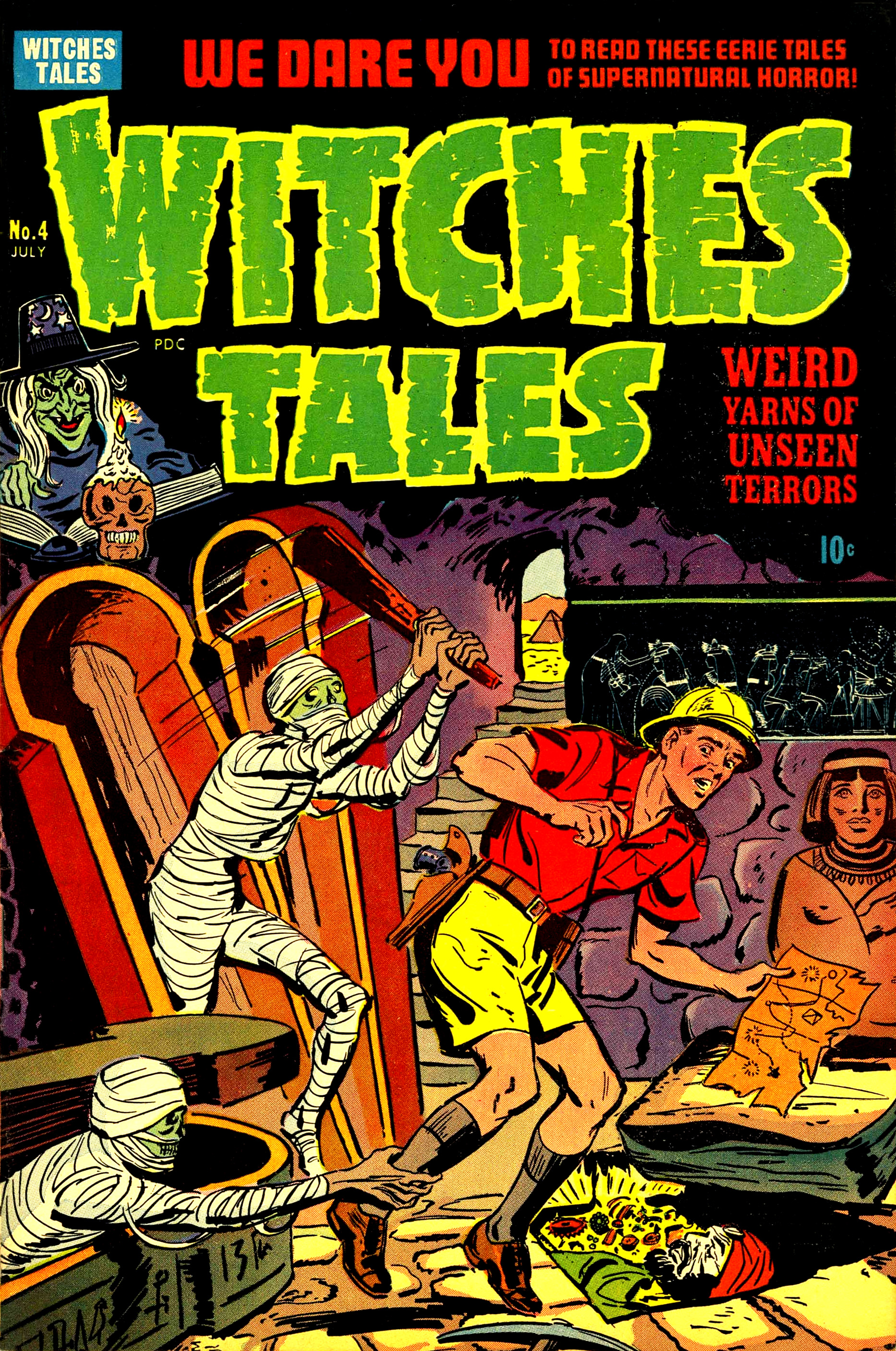 Witches Tales #4, Al Avison Cover (Harvey, 1951)