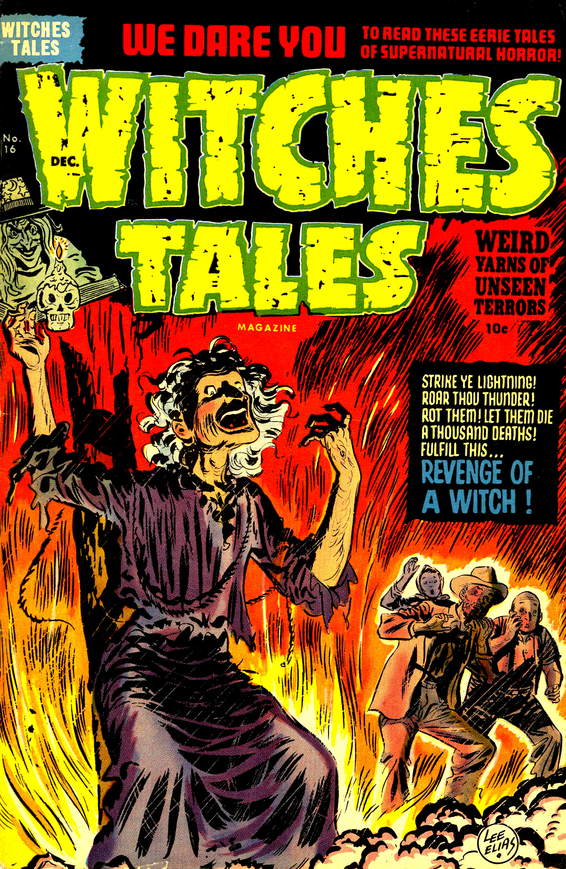 Witches Tales #16, Lee Elias Cover (Harvey, 1952)