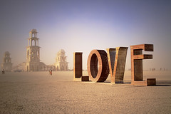 Burning Man: Spread the LOVE (Little Lioness) Tags: travel sunset home oregon sunrise canon awesome nevada extreme taxidermy burningman blackrockcity drugs booze nudity theman burners theburn bman theplaya thetemple burntheman bearslayer whatisburningman rightsofpassage sarahbartell niayh naturepunk burningmanfestival2011 blackrockcityburn cougarheaddress