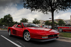 Ferrari Testarossa (agup627) Tags: red italy face breakfast club america austin spider italian italia texas angle flat tx side low profile ferrari front 12 rosso f430 corsa 430 512 testarossa rossocorsa flat12 worldcars ferrariclubofamerica fcabreakfast