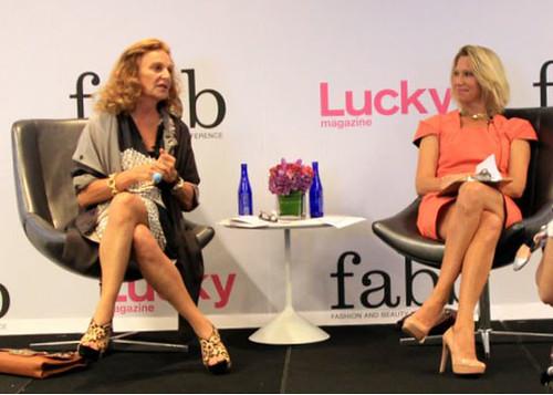 Diane Von Furstenberg chats with Lucky magazine editor Brandon Holley.