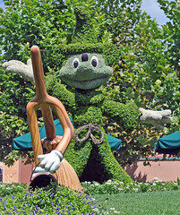 Fantasia (littlestschnauzer) Tags: flowers usa hat mouse orlando topiary florida wizard disney mickey hollywood fantasia wdw studios walt broom 2011 hollywoodstudios