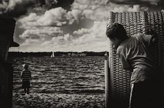 Hide and Seek (BennyBrand) Tags: ocean sky boys water clouds hide seek eckstein