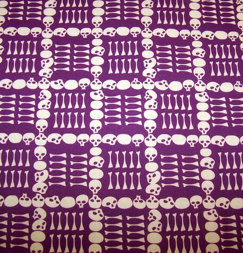 Catacombs in Purple Halloween Fabric