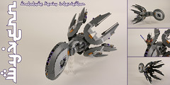 """WYVERN"" Prototype heavy interceptor (Shamisenfred) Tags: lego alien interceptor wyvern starfighter"