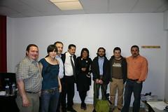 Varios integrantes de la Delegación Italiana con Jose Luis Araujo y Rosalía Herrera entre otros visitando las aulas