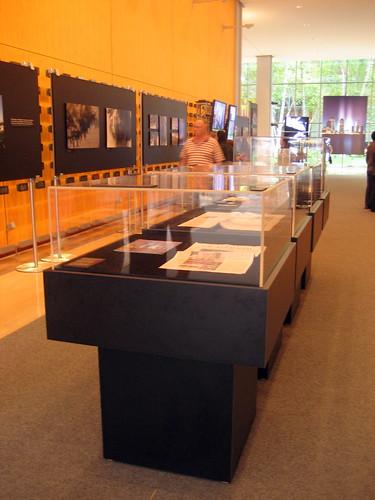 A display case containing mementos of 9/11
