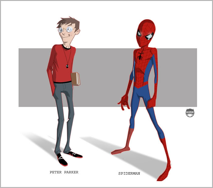 Homem Aranha desenho nerd