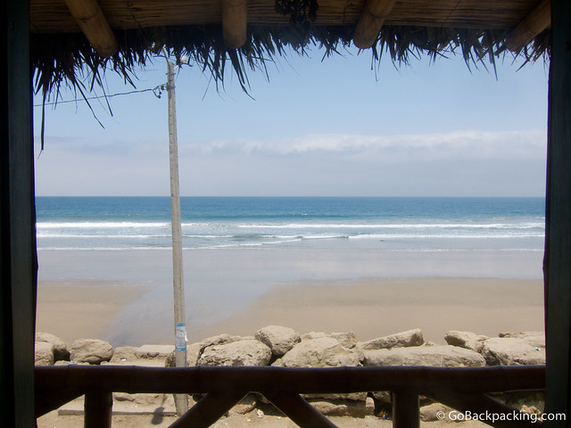 Ocean view at Mochica Sumpa hostal