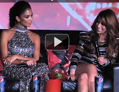 Fan question the judges at xfactor USA premier -video