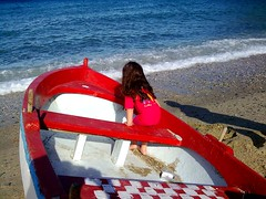 voyage, a breath before swimming (dimitra_milaiou) Tags: life blue shadow red sea summer sky people sun white color love beach colors girl kids swimming river hair boats rouge island greek happy one 1 boat nokia holidays europe paint day waves colours peace village child head joy aegean hellas happiness greece summertime shape emotions pure vacations andros cyclades katerina swimm dimitra hellenic kyklades  stenies gyalia   aigaio 5610d1   gialia   steniaes milaiou   stenaies