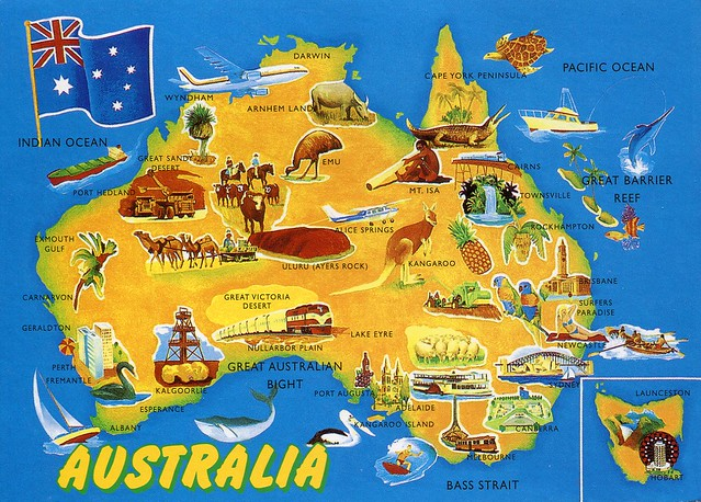 Map of Australia: Land of Contrast