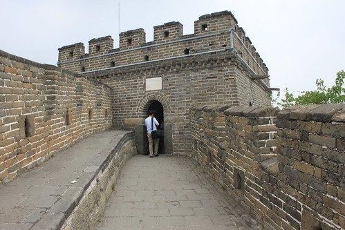 Different design for every watchtower at Mutianyu Great Wall Beijing China