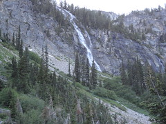 Waterfall to the west of access gully to Devore upper basin