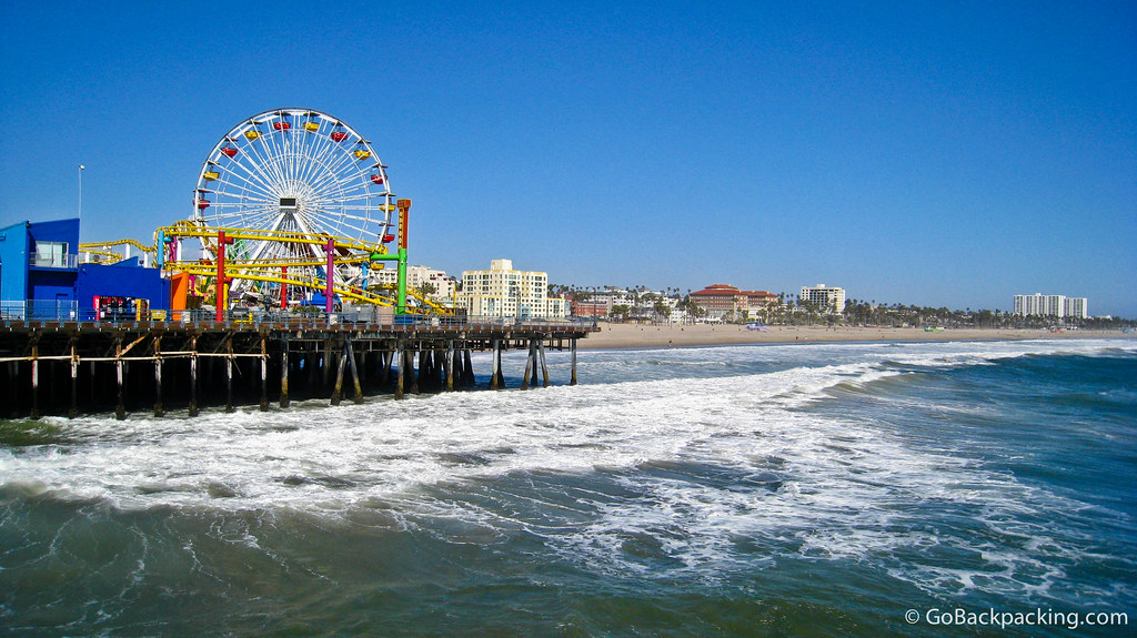 Picture of the Santa Monica Pier in California