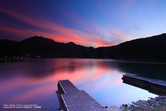 (nodie26) Tags: sun mountain lake color water pool sunrise scenery long tour lakes deep taiwan  hualien