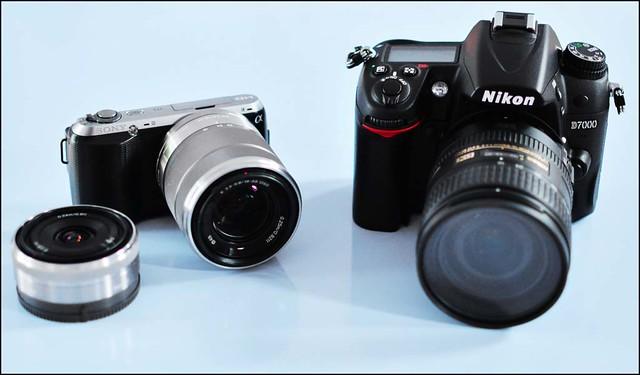 Sony NEX-C3 17-55mm 16mm f/2.8 Nikon D7000 16-85mm