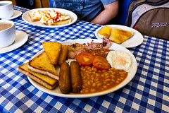 angela's cafe full english (lomokev) Tags: food english breakfast tomato beard bacon beans tea egg knife sausage plate friedegg orangejuice margate hashbrowns fryup fullenglish friedbread angelascafe upfull posted:to=tumblr file:name=110813eos5d9492 englishhash