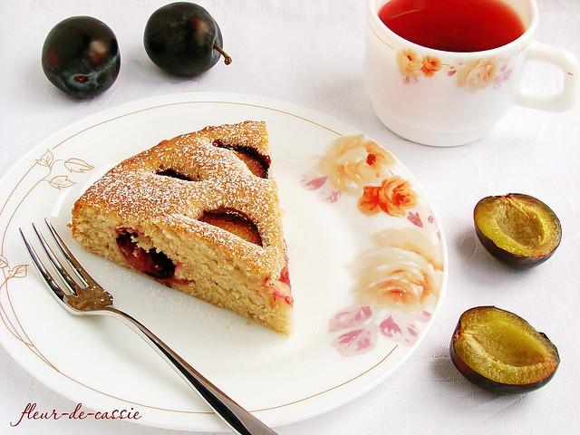 пирог сливочный со сливами 1