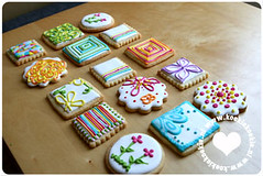 Just for fun (koekiekoekie) Tags: pink blue orange white green cookie bright sweet treats royal icing vanilla decorated sugarcookies sugarcookie royalicing vanillacookie