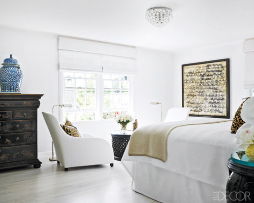 Ted Tuttle / John Granen / Elle Decor {white vintage traditional rustic eclectic modern bedroom} by recent settlers