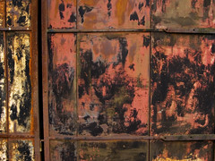 No more second-rate movies (steverichard) Tags: door old red texture metal rouge scotland photo flickr image decay metallic patterns rusty august explore oxidation entrada 17 weathered porte portal panels tor shite rosso rustyandcrusty reddish patchy turen 2011 explored steverichard srichardimagescom