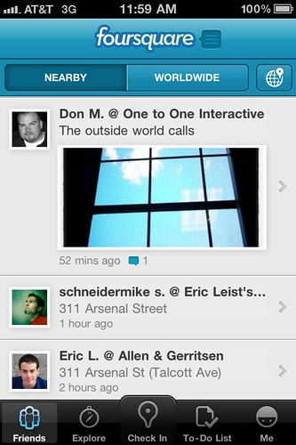 [Photo] New Foursquare iPhone App has Inline Photos by stevegarfield