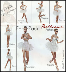 *ES* FAT PACK-Ballerina Fashion (Essential Soul Studio) Tags: world pictures life fashion female pose studio stand photo model ballerina couple modeling fat dean sl secondlife virtual single soul essential second steven runaway maeve strom poses packs xposer essentialsoul