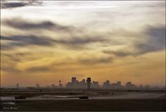 Chinook Sunset at Calgary Airport (DamDong) Tags: sunset canada calgary evening airport olympus chinook c4040z