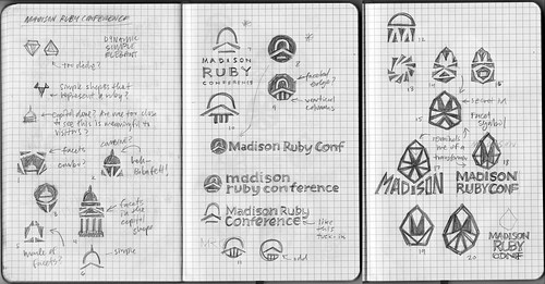 Madison Ruby Logo Sketches Round 1