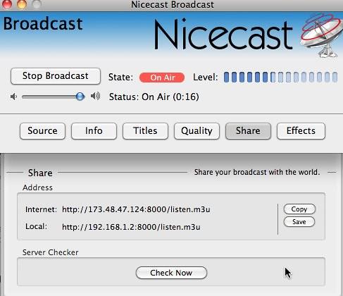 Nicecast Broadcast