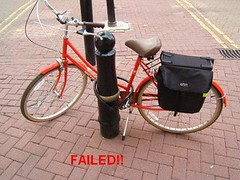 What the...?! (Kingston Cycling Campaign) Tags: bike lock parking failure security cycle fail kingstoncyclingcampaign