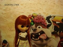 Aisha e o Bulldog Louis do filme Rio!!