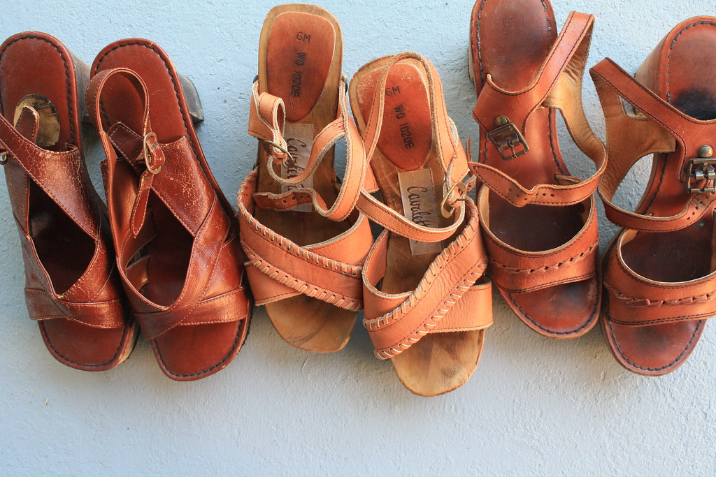 vintage wood wedges