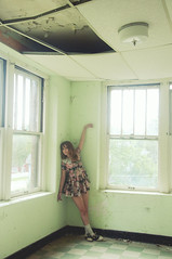 (yyellowbird) Tags: abandoned girl hospital missouri loli cari stmarys weirdpose ironton