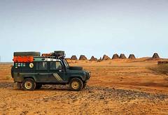 Landy at Meroe Pyramids, Sudan