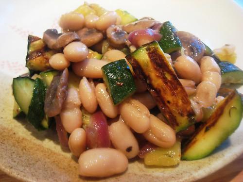 White Beans and Mushroom Salad