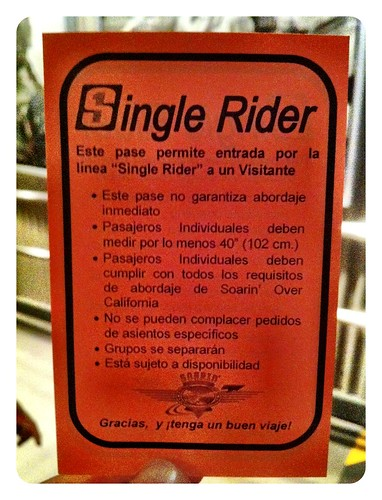 ¿Qué es Single Rider en Disneylandia?