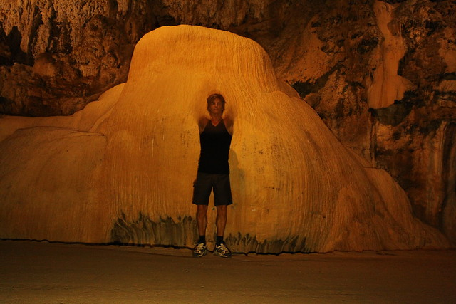 Inside the the spectacular Grotta di San Giovanni, just outside Iglesias...