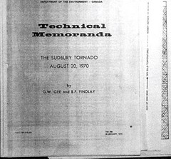 1970 Sudbury Tornado Technical Report (R Orville Lyttle) Tags: storm f3 tornado category meterology sudburyon rorvillelyttle 1970tornado departmentofenvironmentcanada environmentcanadatechnicalreport